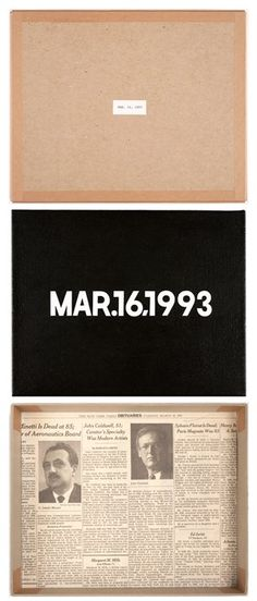 "On this day in 1993: On Kawara made MAR. 16, 1993, from the ""Today"" Series."