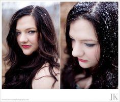Black Dress. Snow