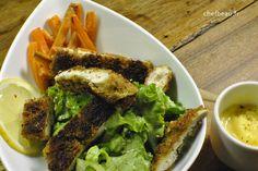 Escalopes de poulet en panure de pistaches