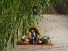 Nativity Shepherd Ornament, Creche Christmas Ornament