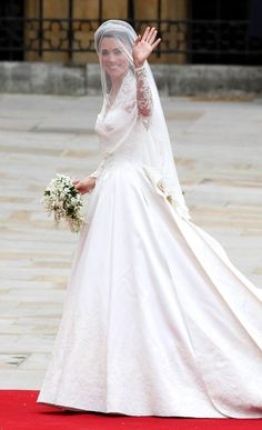 Kate Middelton on her way into church to marry Prince William - Royal Wedding Day