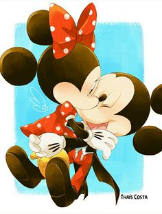 Mickey & Minnie Minnie Mouse Drawing, Mickey Mouse Art, Mickey Mouse Wallpaper, Disney Mouse, Cute Disney Wallpaper, Mickey Mouse And Friends, Disney Fun, Epic Mickey, Mickey Love