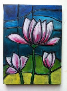 Image result for acrylic stained glass painting canvas