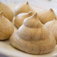 Coffee Meringue Cookies Recipe - Pareve Passover Desserts - Jewish Holiday Shabbat Dessert Recipes