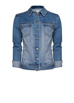 MANGO - Light washed denim jacket