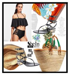 """black bikini!"" by samaahassan1398 ❤ liked on Polyvore featuring Balenciaga and Valentino"