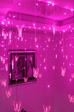 bedroom neon butterflies theme led decor