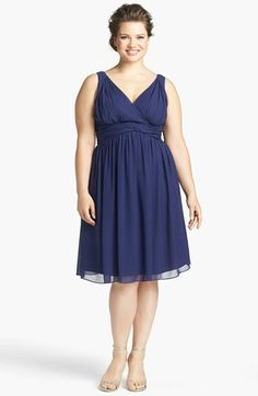 Donna Morgan 'Jessie' Twist Silk Chiffon Dress (Regular & Plus) available at #Nordstrom
