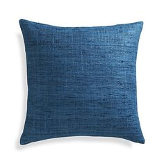 "Optional pillow for sofa. Trevino Aegean Blue 20"" Pillow with Down-Alternative Insert 