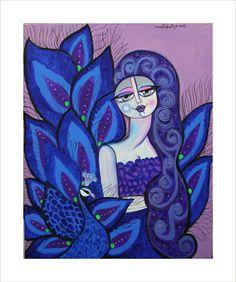 #حواء            #eve  Acrylic on canvas  Size 100×80cm  #peacock #beutiful  #blue #iraqiart #paintings  #painting #art #artwork  #dubai #uae #uk #usa #lys  #baghdad #hair #purplelips  #سرى_الخفاجي  #رسم_تشكيلي  #رسم #فن #فن_تشكيلي  #طاووس  #انوثة  #ازرق #جمال #تراث #حسد #عين