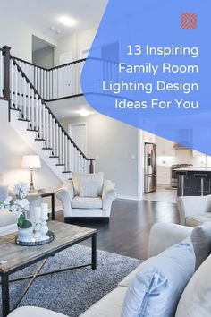 These 13 family room lighting ideas will help you make your family room the perfect place to entertain friends and family. Check these lighting design ideas out and start decorating! Boho Living Room, Cozy Living Rooms, Formal Living Rooms, Living Room Decor, Family Room Lighting, Dining Room Lighting, Lighting Ideas, Lighting Design, White Table Lamp