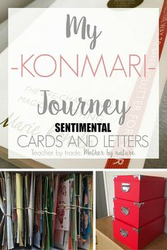 Teacher by trade, Mother by nature - My KonMari Journey: Sentimental - Cards and Letters Declutter Your Home, Organizing Your Home, Organizing Tips, Organising, Planners, Clutter Organization, Bedroom Organization, Organization Ideas, Old Letters
