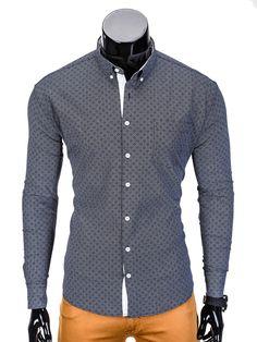 KOSZULA K388 - GRAFITOWA - Sklep Ombre Men Sweater, Sweaters, Fashion, Moda, Sweater, Fasion, Pullover, Fashion Illustrations