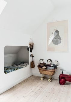 A simple attic kids room with lots of charm