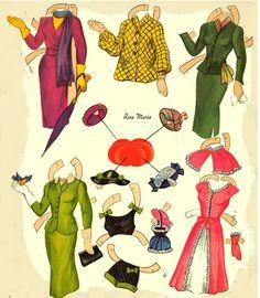 Kathleen Taylor's Dakota Dreams: Thursday Tab- Saalfield Hatbox Dolls 1954