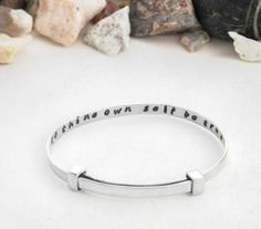 To thine own self be true, inspirational quote, bracelet, sterling silver, quote, quote bracelet, custom quote, inspirational bracelet