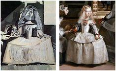 Details from Velazquez' Las Meninas and Picasso's Infantas