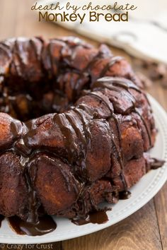 Death by Chocolate Monkey Bread! An easy breakfast or brunch recipe that's full of chocolate!