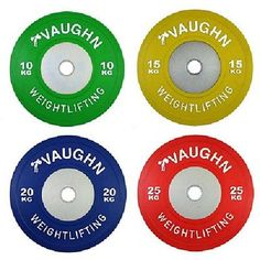 140 KG Vaughn Competition Bumper Plates Olympic Gym Fitness Exercise - http://sports.goshoppins.com/exercise-fitness-equipment/140-kg-vaughn-competition-bumper-plates-olympic-gym-fitness-exercise/