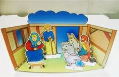 Kerst, diorama voor kleuters  , kleuteridee ,Christmas nativity, christmas diorama, free printable