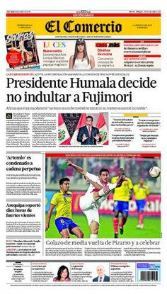 SÁBADO 08 de JUNIO de 2013  (PORTADA DE EL COMERCIO)