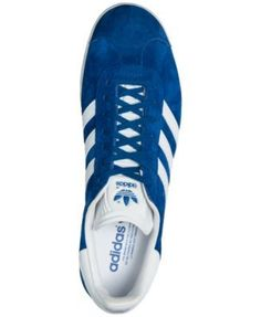 adidas Men\u0027s Gazelle Sport Pack Casual Sneakers from Finish Line - Blue 13