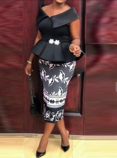 Description of Mid-Calf Short Sleeve Falbala Party/Cocktail Women's Sheath Dress Latest African Fashion Dresses, African Dresses For Women, African Print Dresses, African Print Fashion, African Attire, Women's Fashion Dresses, Africa Fashion, African Lace Styles, Africa Dress