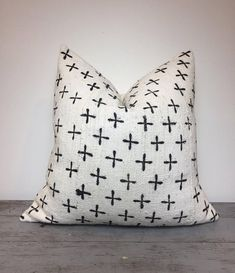 White African Mudcloth Pillow Cover Boho Pillows Mudcloth