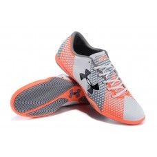 Under Armour Clutchfit Force IC Orange White Gray cheap football shoes 879b784736081