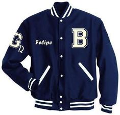 Casaca Americana azul Varsity Jacket Outfit, Varsity Letterman Jackets, Casual Outfits, Cute Outfits, Fashion Outfits, Fashion Design Template, Sports Hoodies, Teen Girl Outfits, Character Outfits
