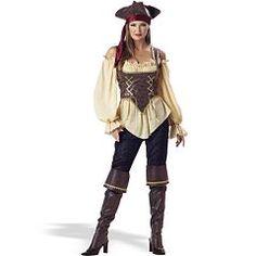 Rustic Pirate Lady Costume - Adult