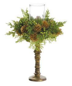 Another great find on #zulily! Cedar & Pinecone Candleholder #zulilyfinds