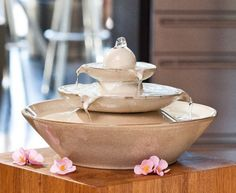 Pisa Cream - Ceramic Indoor Water Feature
