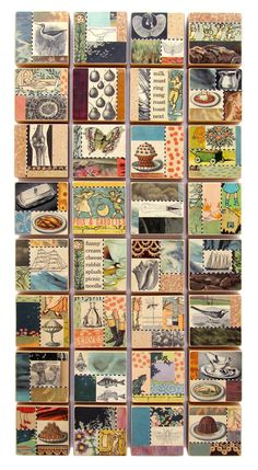 Suzanna Scott's amazing art block collages