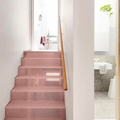 @folkarchitects, stop making us blush! 😳 Like a kid in a candy store, we're loving the powdery pink stairs at this former sweet factory in Collinwood. 💗🍭 Head on over to the @community_journal to check out the entire pad! 📸 @blachford @kateballis #folkarchitects #tomblachford #melbourne #melbournearchitecture #architecture #australianarchitecture #pink #pinkstairs #interiors #interiordesign #duluxpaint #rennovation