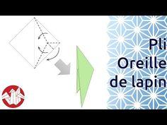 SÍMBOLOS DOS DIAGRAMAS - Débuter en Origami - Réaliser un pli Oreille de lapin (Rabbit Ear Fold) [Senbazuru] - YouTube