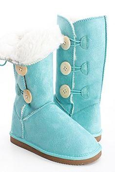 Tiffany blue boots