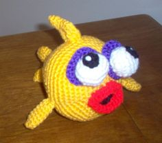 "Crocheted ""Goldie"" Fish"