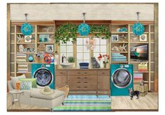 Love CyFy's laundry MOODBOARD How to do Laundry Stressfree~by CyFy, Also won 1st place in an Olioboard Zen Laundry Room Challenge Contest.