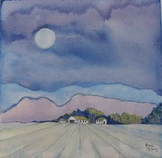 Moonlit Vineyards in McGregor Acrylic on canvas Moonlight, Paintings, Canvas, Art, Tela, Paint, Painting Art, Canvases, Kunst