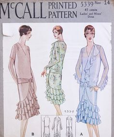 McCall 5339 | 1928 Ladies' and Misses' Dress