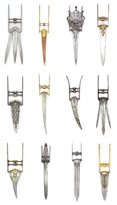 Katar (dagger) typology. 17th-18th century, India. Metropolitan Museum of Art digital collection.