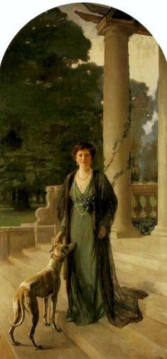 Sir John Lavery (Irish, 1856–1941) Portrait of Baroness Gerda von Chappuis, 1910. Oil on canvas, 120 x 56 in (304.80 x 142.24 cm). Christie's, London, May 2006.