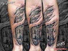 #tatuaje #tattoo #tatuaje3D #tatuajebiomecanico #juanpetattoo www.juanpetattoo.es