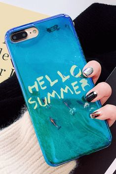 Hello Summer iPhone 6, iPhone 6 Plus, iPhone 7, iPhone 7 Plus, iPhone 8, iPhone 8 Plus, iPhone X protective Case For cute girl #iphone8plus, #iphone8pluscase,