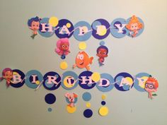 Bubble Guppies Birthday Banner | Bubble Guppies Birthday Banner by Notts and Bows Party Supplies ...