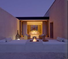 Romantic Terrace With FIreplace At Amangiri Resort And Spa In Canyon Point Southern Utah home trends design photos, home design picture at Home Design and Home Interior Amangiri Resort Utah, Amangiri Hotel, Interior Exterior, Interior Architecture, Interior Design, Desert Resort, Koh Chang, Hotels And Resorts, Outdoor Living