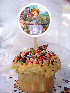 World of Pinatas - Sofia The First Personalized Cupcake Toppers Set of 6, $5.99 (http://www.worldofpinatas.com/sofia-the-first-personalized-cupcake-toppers-set-of-6/)
