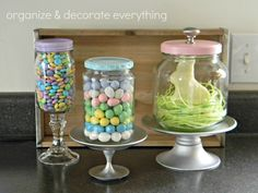 Easter Apothecary Jars - Organize and Decorate Everything