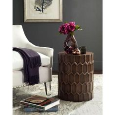 Safavieh Corey Antique Copper Side Table FOX3238A at The Home Depot - Mobile